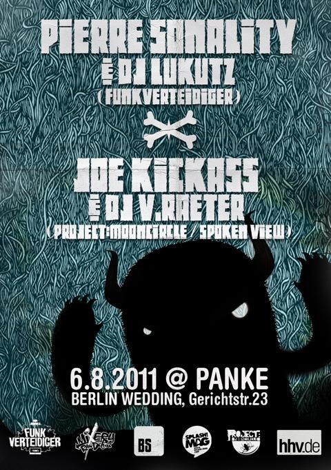 PIERRE SONALITY & DJ LUKUTZ (FUNKVERTEIDIGER) X JOE KICKASS & V. RAETER LIVE!