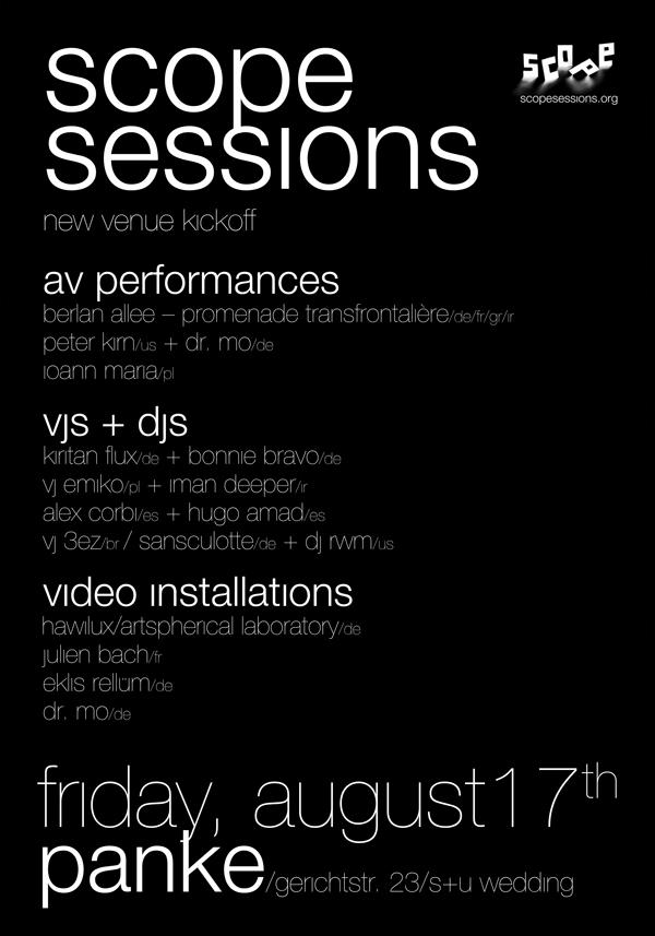 Scope sessıons – new venue kıckoff party
