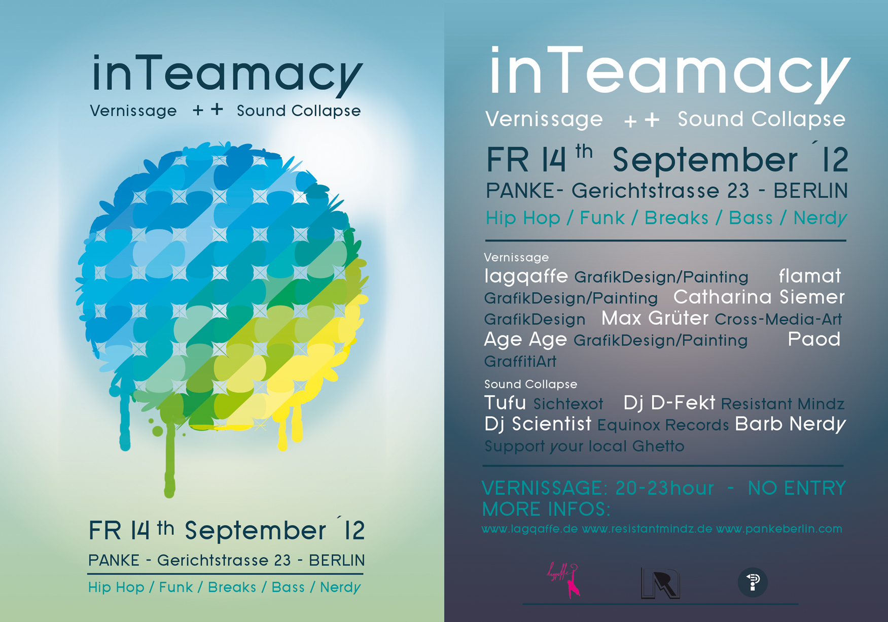 Inteamacy (Vernissage) – Sound Collapse Meets GMC Berlin/Low Life Luxury at Panke