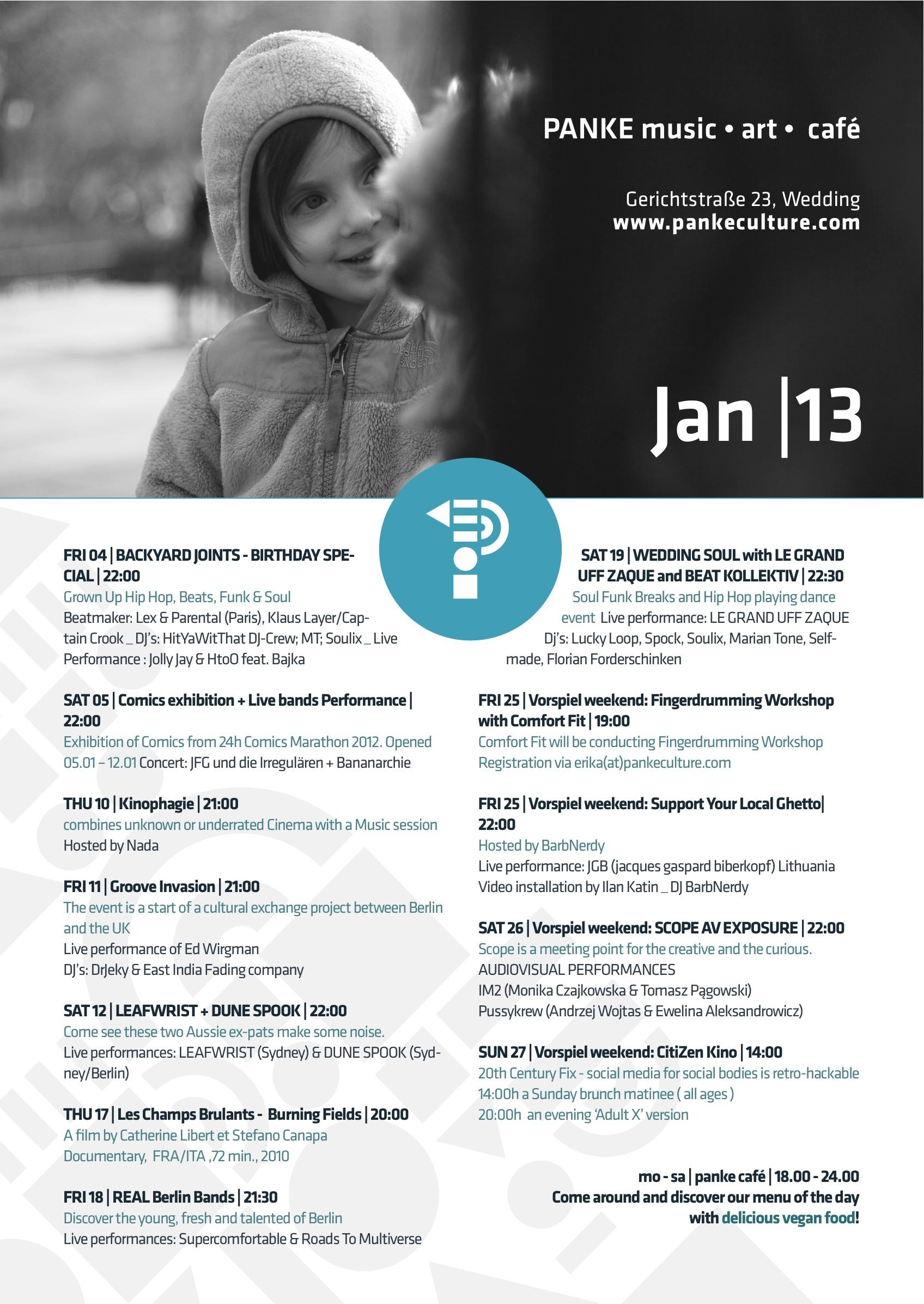 programme for december 2014 panke music u2022 art u2022 café
