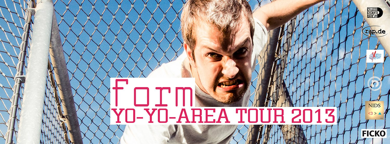 form auf Yo-Yo Area Tour
