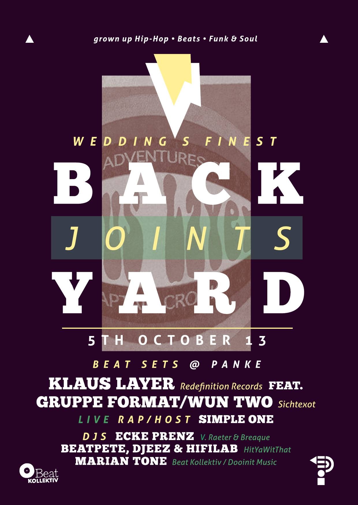 BACKYARD JOINTS – Klaus Layer Record Release Party