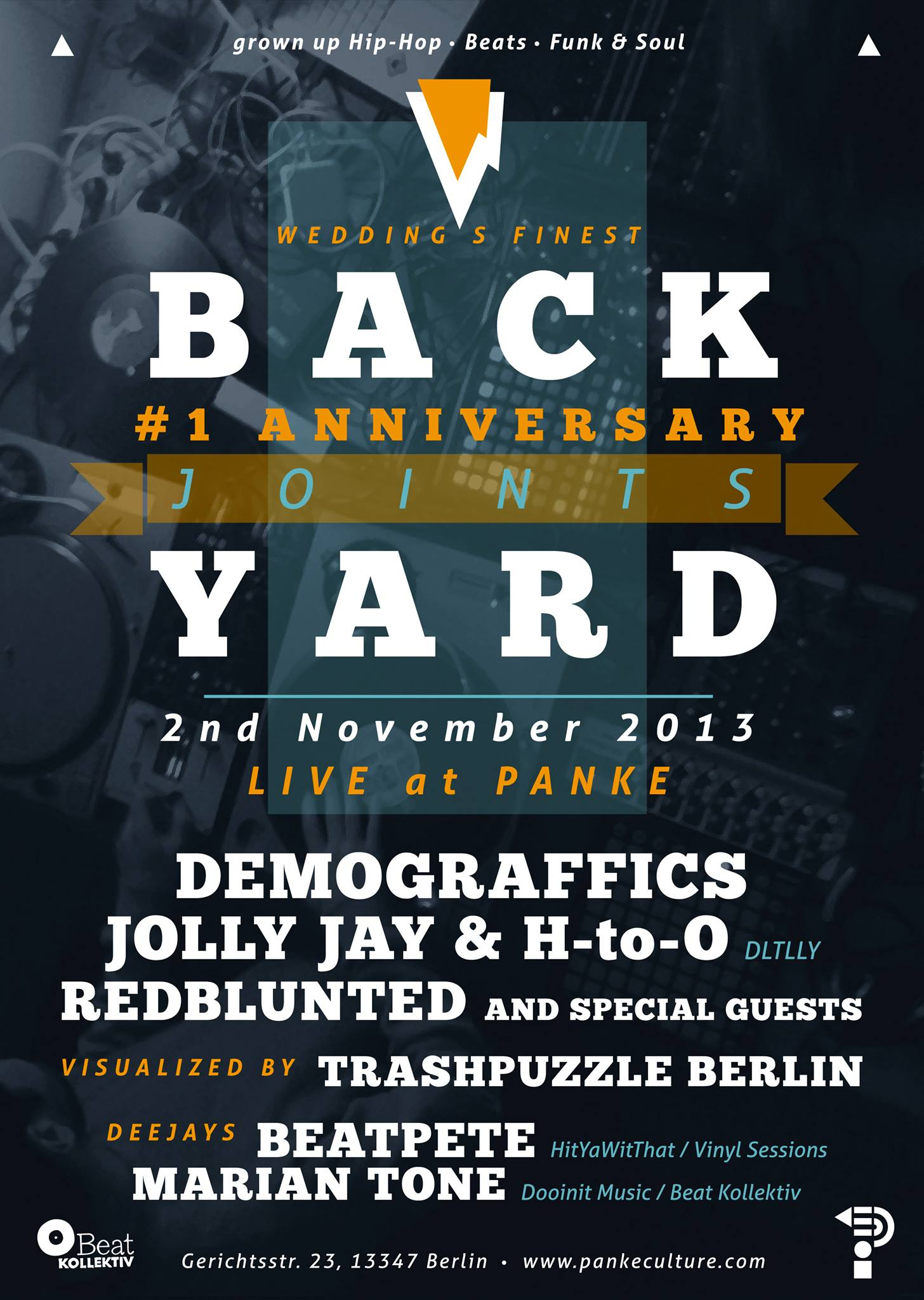 BACKYARD JOINTS – 1st Anniversary