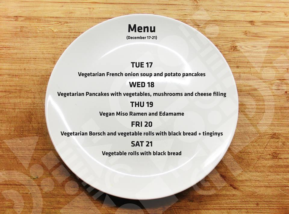 MENU: From 17th until December 21st