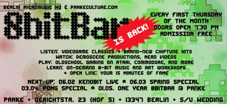 1 Year 8 Bit Bar @ Panke