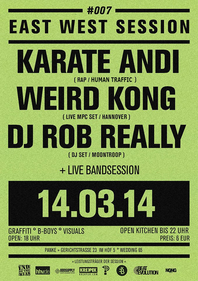 East-West Session #7: Weird Kong, SPECIAL GUESTS