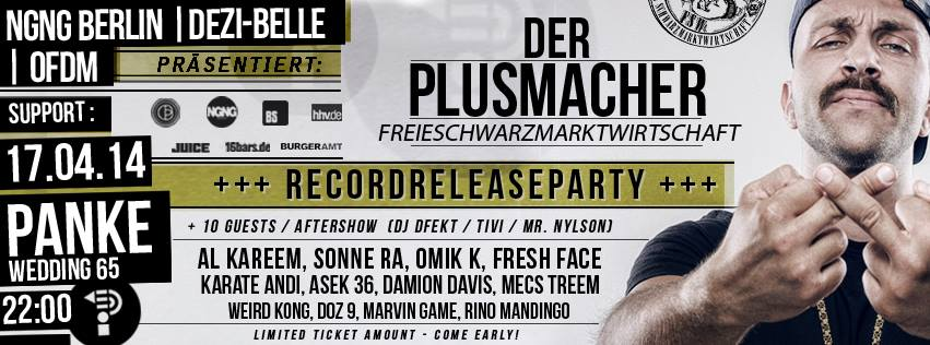 PLUSMACHER RECORD-RELEASE-PARTY