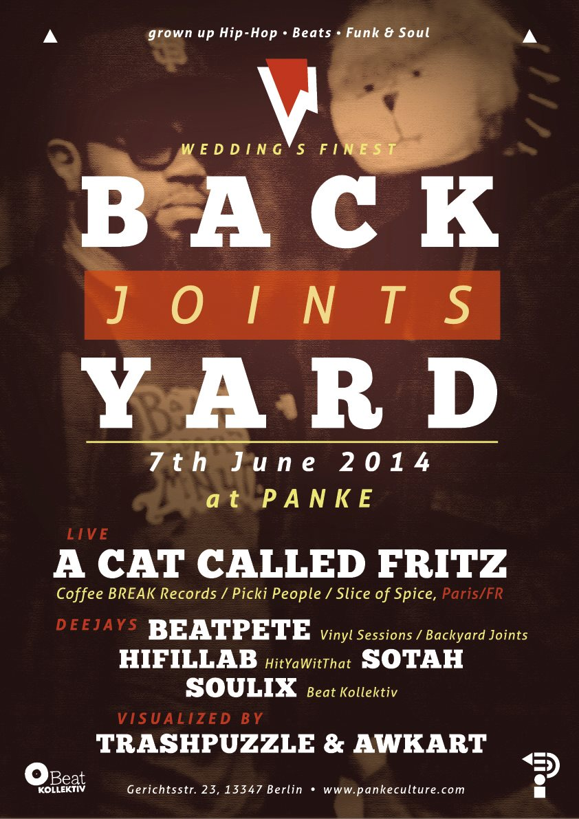 BACKYARD JOINTS Presents: A Cat Called FRITZ (Paris / FR) @ Panke (Berlin)