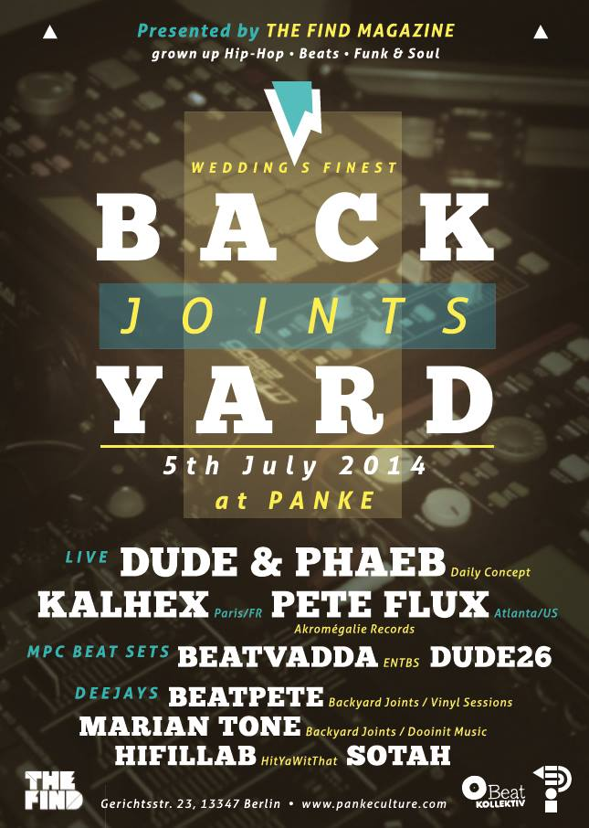 The Find presents Backyard Joints: Summer Edition (Berlin, July 5th)