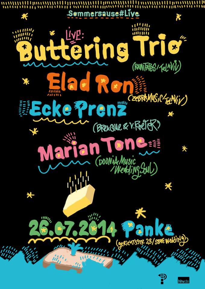BUTTERING TRIO live / ELAD RON / ECKE PRENZ / MARIAN TONE