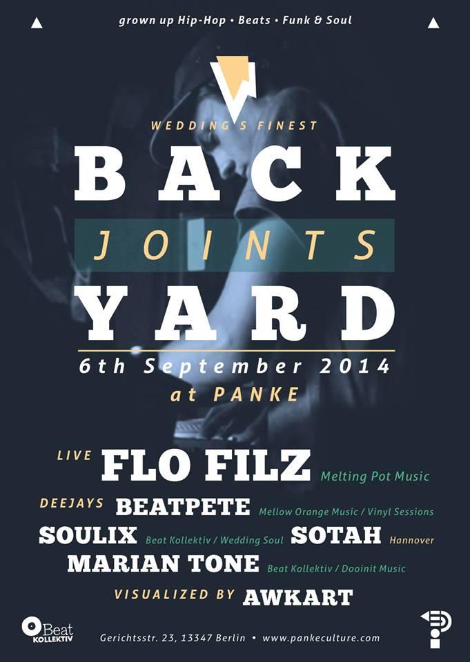 BACKYARD JOINTS Presents: FLO FILZ @ Panke (Berlin)