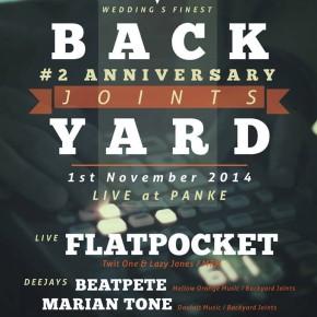 BACKYARD JOINTS 2nd ANNIVERSARY - Special Guests: FLATPOCKET (Twit One & Lazy Jones) @ Panke (Berlin)