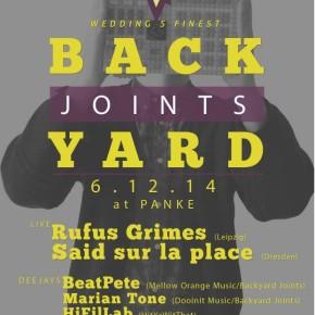 06/12/2014 - BACKYARD JOINTS Presents: Rufus Grimes & Said sur la place