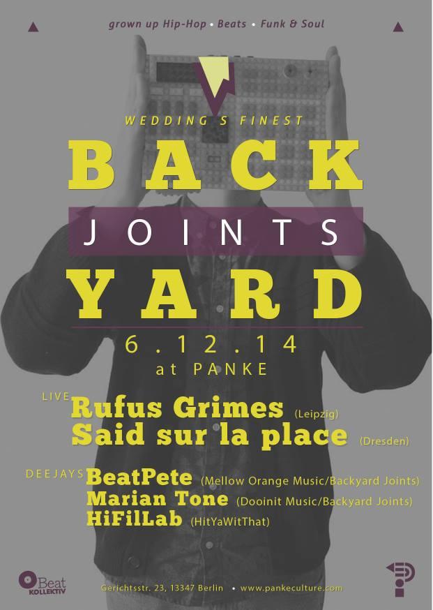 06/12/2014 – BACKYARD JOINTS Presents: Rufus Grimes & Said sur la place