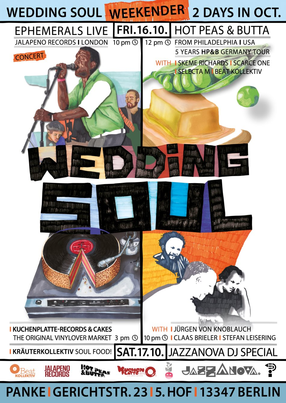Wedding Soul Weekender with Jazzanova, Ephemerals, Hot Peas & Butta and Kuchenplatte