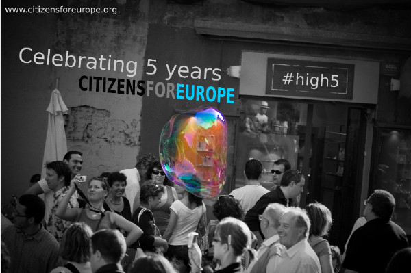 Citizens For Europe, celebrating 5 years
