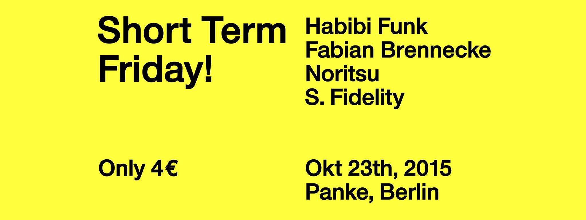 Short Term Friday!