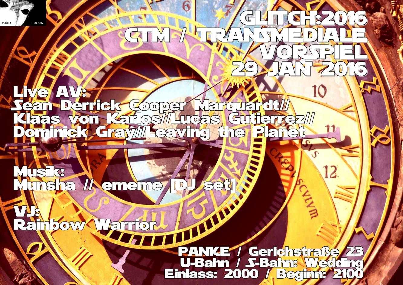 Glitch Berlin (CTM/Vorspiel)