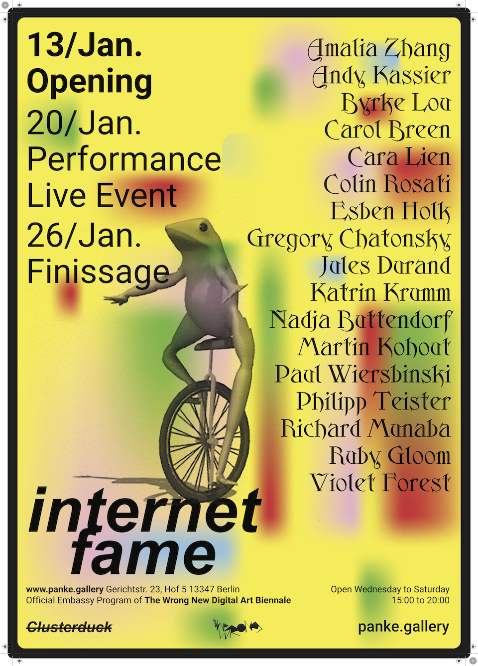 INTERNET FAME | group show @panke.gallery