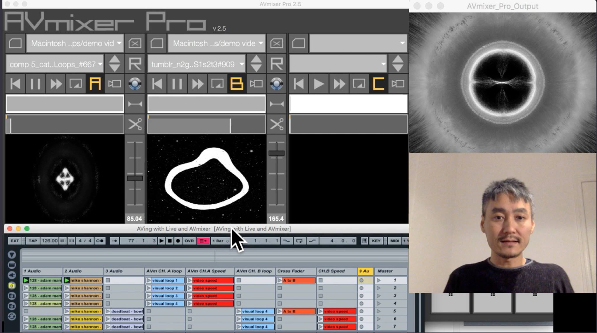 Live video mixing with Ableton Live & AVmixer at AUGB