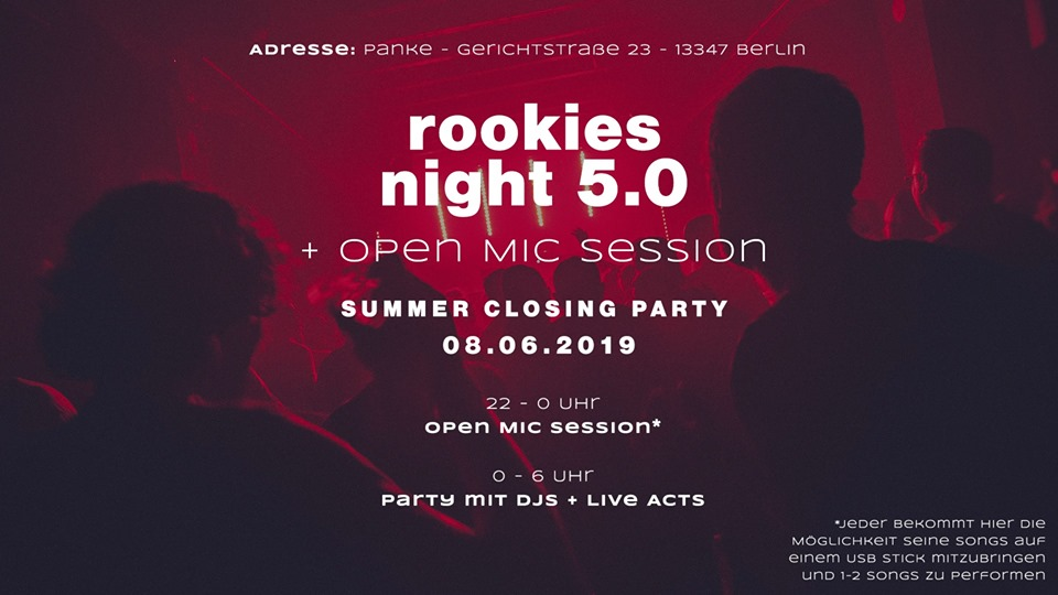 Rookies Night 5.0 + Open Mic Session