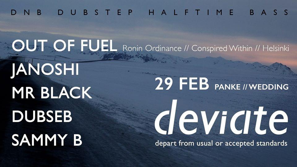 deviate 2nd birthday w/ Out Of Fuel, janoshi, mR_BLACk